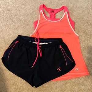 Abercrombie & Fitch Active shorts and tank
